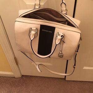 Michael Kors Bags - Michael Kors white with black trim